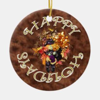Buenas fiestas ornamento de la guirnalda adorno redondo de cerámica