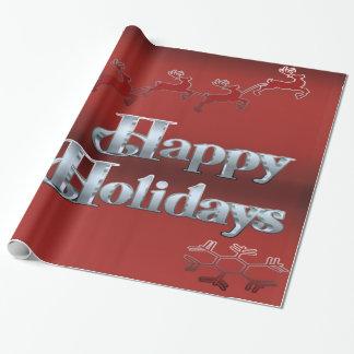Buenas fiestas papel de embalaje brillante festivo