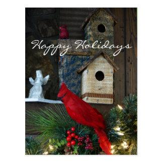 Buenas fiestas personalizar cardinal de la postal