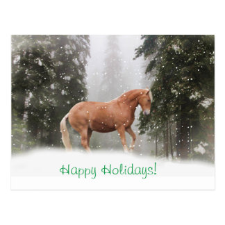 Buenas fiestas postal del caballo de proyecto