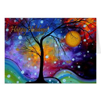 Buenas fiestas tarjeta de felicitación colorida