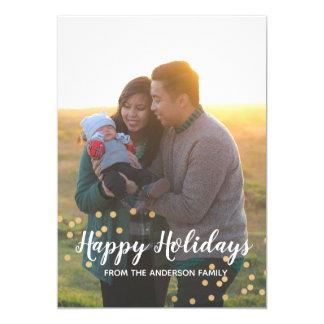 Buenas fiestas tarjeta de felicitación del navidad