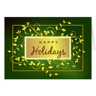 Buenas fiestas - tarjeta de felicitación ejecutiva