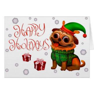 Buenas fiestas - tarjeta de Navidad del barro
