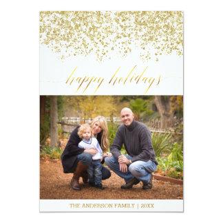 Buenas fiestas tarjeta de Navidad del brillo Invitación 12,7 X 17,8 Cm