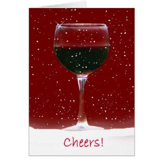 Buenas fiestas tarjeta de Navidad del vino