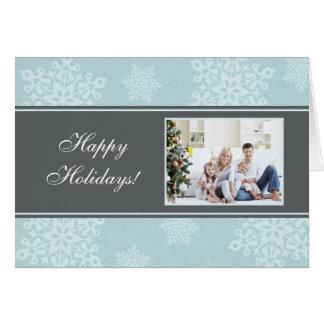Buenas fiestas tarjeta de Navidad moderna de los c