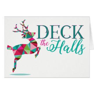 Buenas fiestas tarjeta del reno