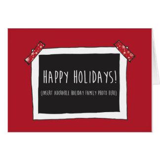 Buenas fiestas tarjeta divertida (foto del parte