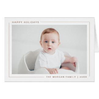Buenas fiestas tarjeta moderna elegante de la foto