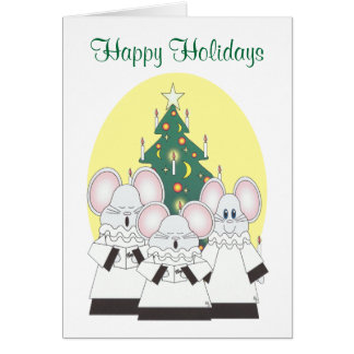 Buenas fiestas tarjeta que ofrece a un coro del ra