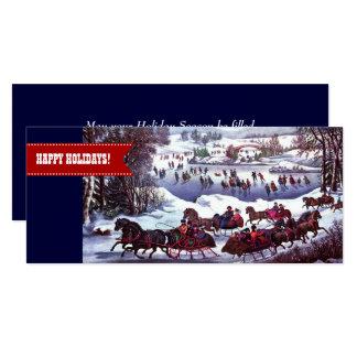 Buenas fiestas. Tarjetas planas del navidad Invitación 10,1 X 23,5 Cm