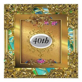 Buenas invitaciones de la fiesta de cumpleaños invitación 13,3 cm x 13,3cm