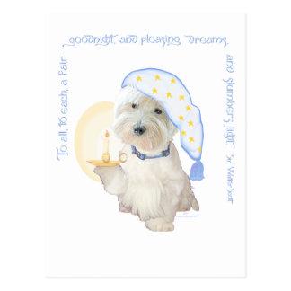 Buenas noches azul tarjeta postal