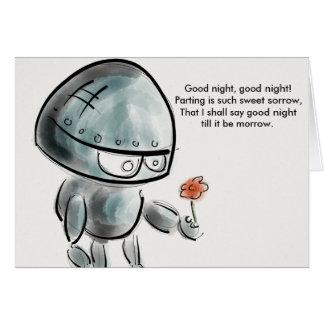 Buenas noches buenas noches tarjeta de Shakespeare