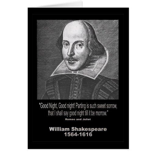 ¡Buenas noches del ~ de la cita de Shakespeare, bu Tarjetón