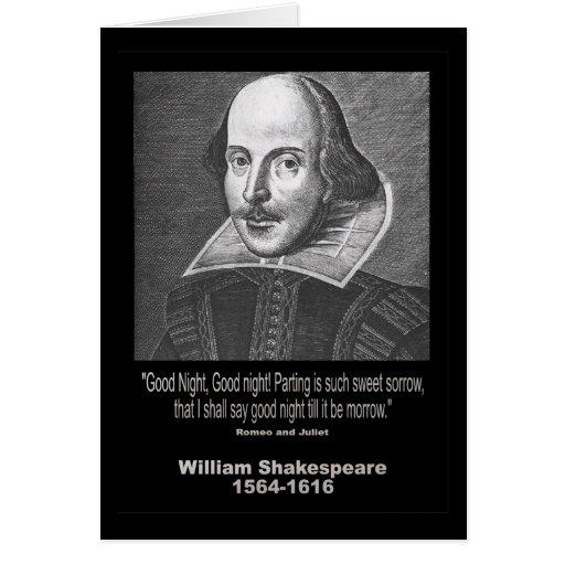 ¡Buenas noches del ~ de la cita de Shakespeare, bu Tarjeta