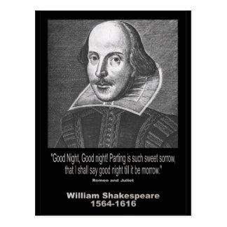 ¡Buenas noches del ~ de la cita de Shakespeare, bu Postal