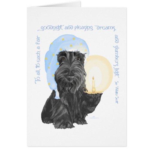 Buenas noches escocés Terrier Felicitaciones