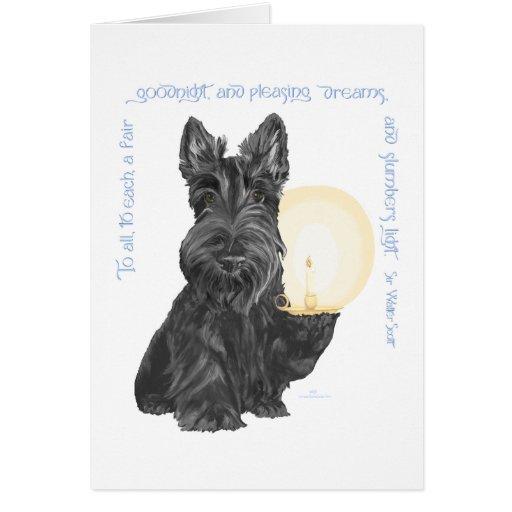 Buenas noches escocés Terrier Tarjeta