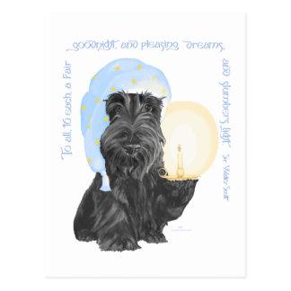 Buenas noches escocés Terrier Tarjetas Postales