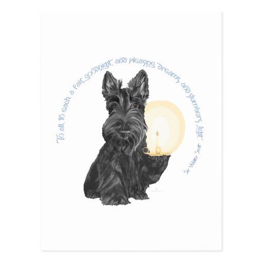 Buenas noches escocés Terrier Tarjeta Postal