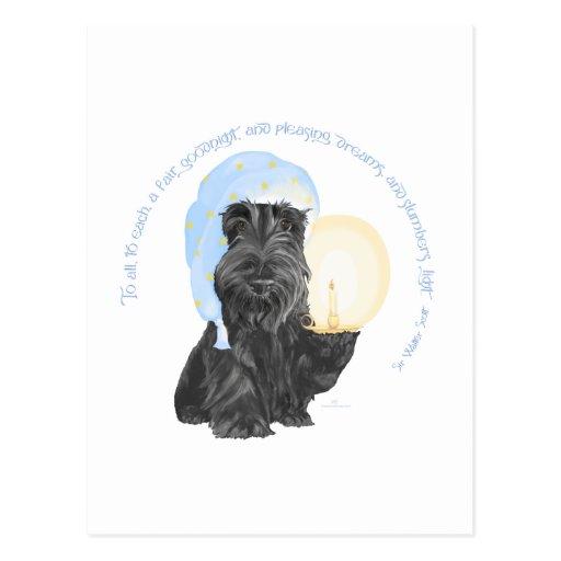 Buenas noches escocés Terrier Postal
