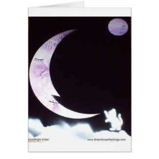 Buenas noches gatito tarjeta de felicitación