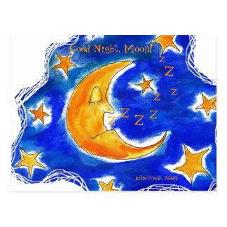 ¡Buenas noches, luna! Postal