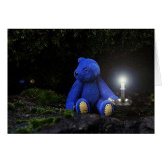 Buenas noches oso azul tarjeta de felicitación
