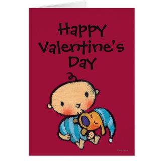 Buenas noches perrito adorable de los besos en tarjeta de felicitación