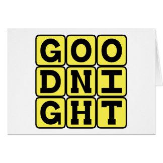 Buenas noches saludo de la hora de acostarse