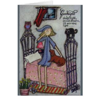 Buenas noches tarjeta de felicitación