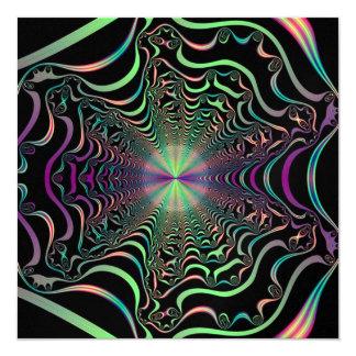 Buenas vibraciones invitación 13,3 cm x 13,3cm
