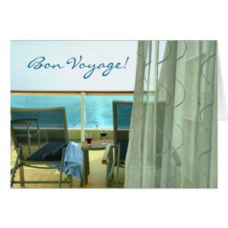 Bueno a bordo tarjeta de encargo del buen viaje