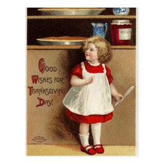 Buenos deseos del vintage para la acción de postal