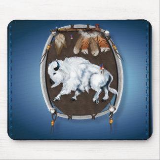 Búfalo blanco Mousepad Escudo-azul Alfombrilla De Ratón