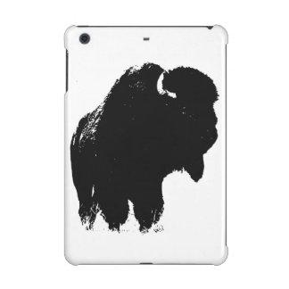 Búfalo negro y blanco del bisonte del arte pop