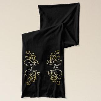 Bufanda adornada negra de la moda de la moda del