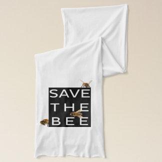 Bufanda ¡Ahorre la abeja! ¡Ahorre el mundo! Abeja
