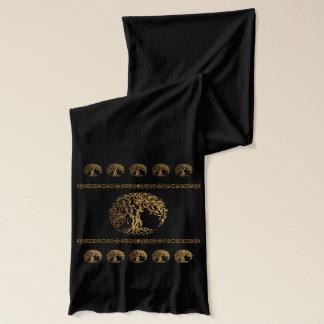 Bufanda Árbol de Mehndi de la vida (oro)