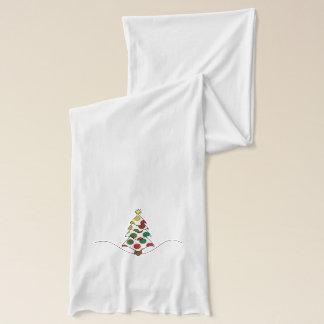 Bufanda Arte del árbol de navidad de Polkadot