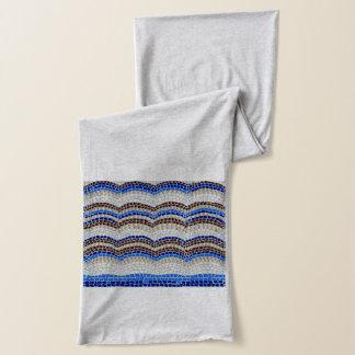 Bufanda azul del jersey del mosaico
