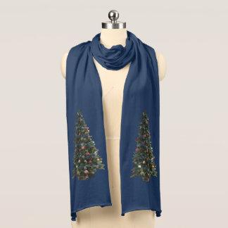 Bufanda Azules marinos felices del acento del árbol de