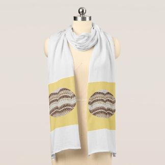 Bufanda beige del jersey del mosaico