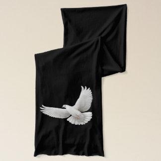 Bufanda blanca de la paloma de la paz que vuela