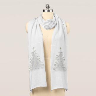 Bufanda blanca del jersey del día de fiesta del
