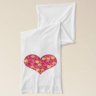 Bufanda Corazón lindo de Emoji de los labios del beso del