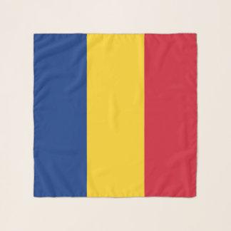 Bufanda cuadrada con la bandera de Rumania