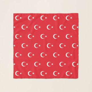 Bufanda cuadrada con la bandera de Turquía